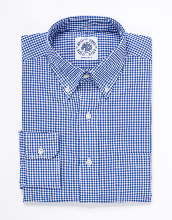 GINGHAM SPORT SHIRT - BLUE