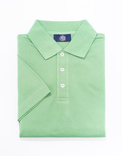 SOLID SHORT SLEEVE POLO SHIRT - LIGHT GREEN