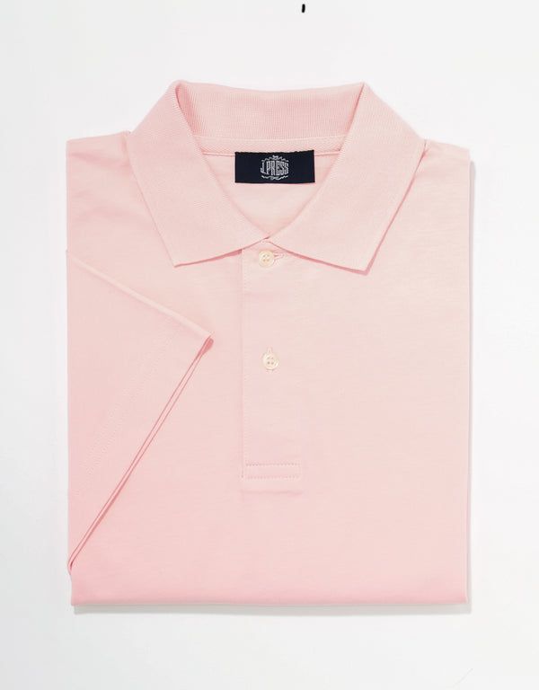SOLID SHORT SLEEVE POLO SHIRT - PINK