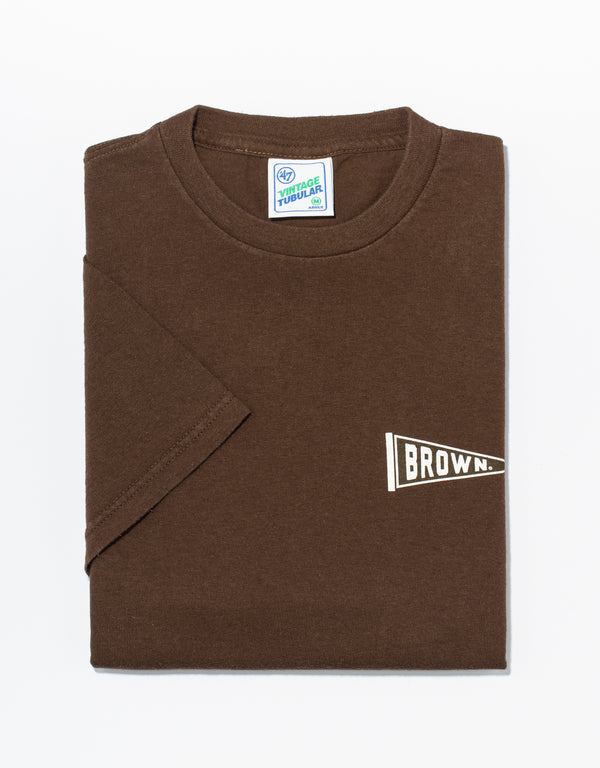 BROWN SHORT SLEEVE T SHIRT