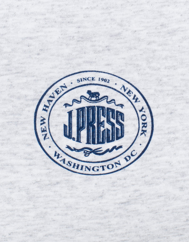 J.PRESS SHORT SLEEVE T SHIRT - GREY