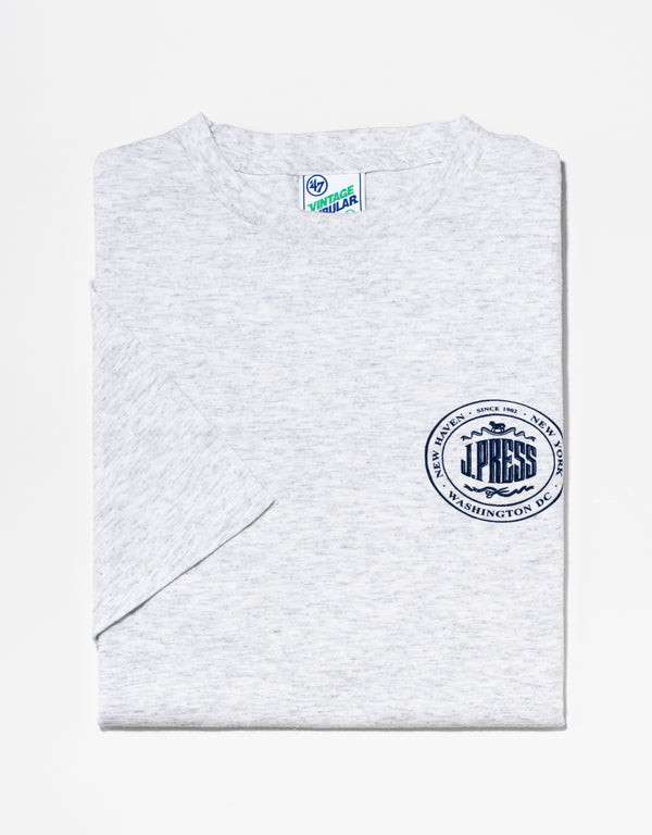 J. PRESS GREY LOGO T-SHIRT