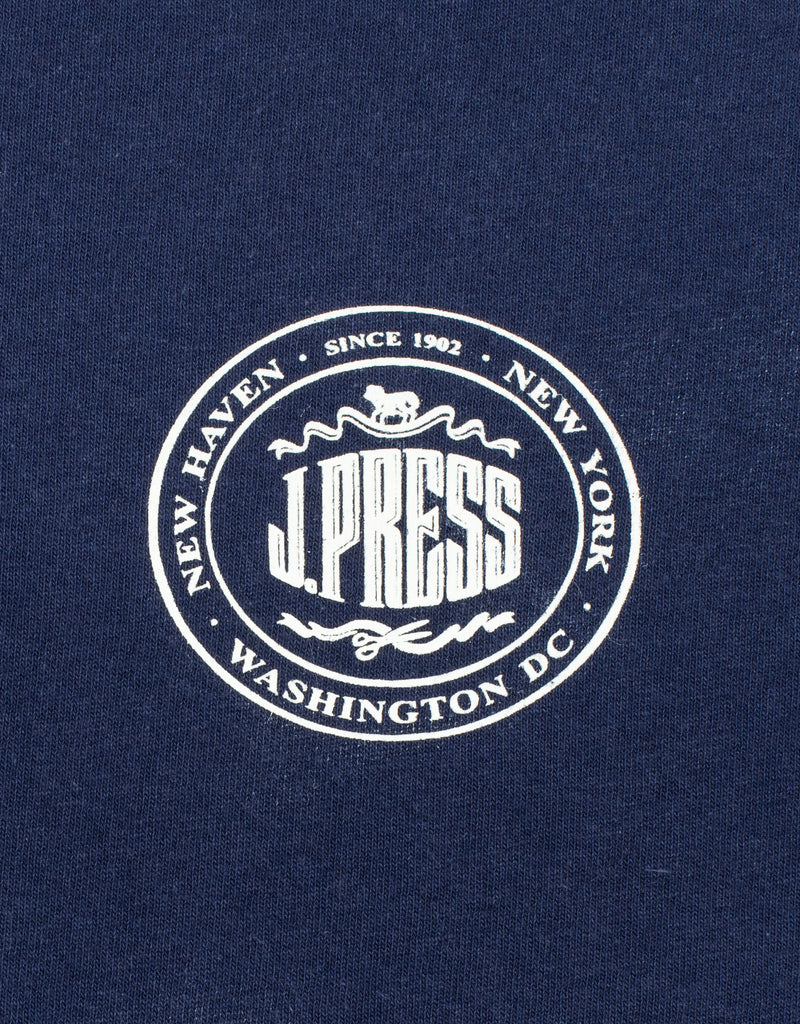J.PRESS SHORT SLEEVE T SHIRT - NAVY