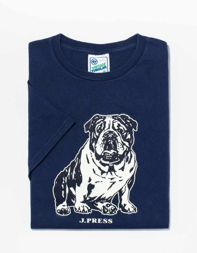 J. PRESS NAVY BULLDOG T-SHIRT