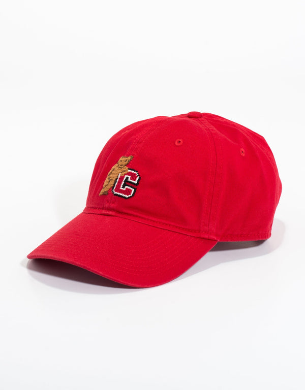 NEEDLEPOINT HAT-CORNELL UNIVERSITY