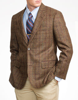 GREEN/TAN/BLACK GLEN CHECK SPORT COAT - CLASSIC FIT