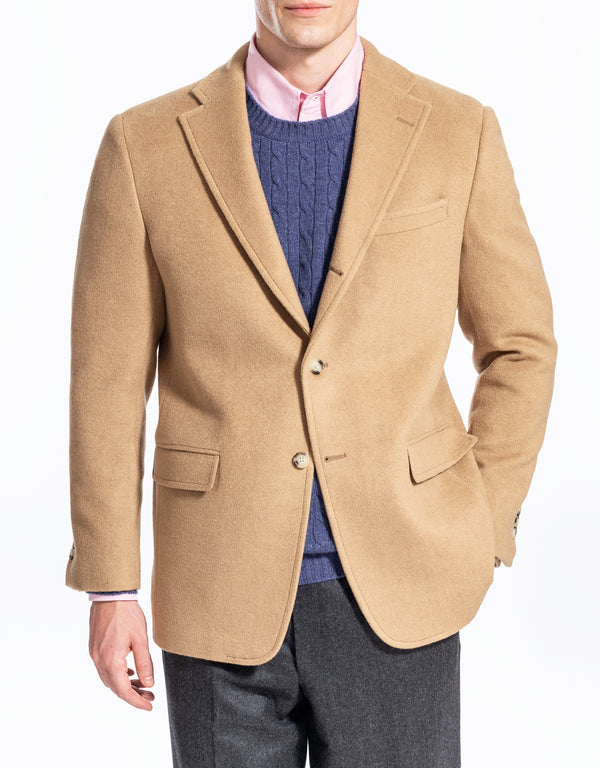 TAN CAMEL HAIR SPORTCOAT - CLASSIC FIT