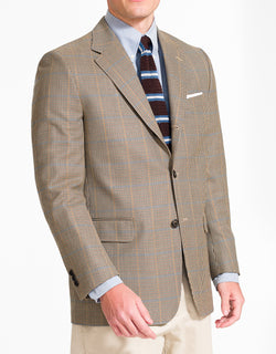 J. PRESS GOLD MULTI CHECK SPORT COAT - CLASSIC FIT