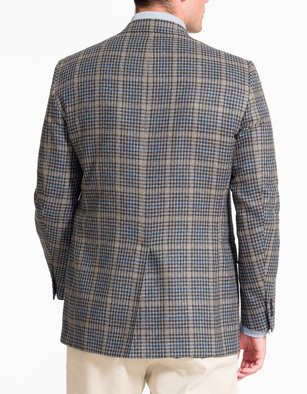 GREY CHECK WITH PANE SPORT COAT - CLASSIC FIT