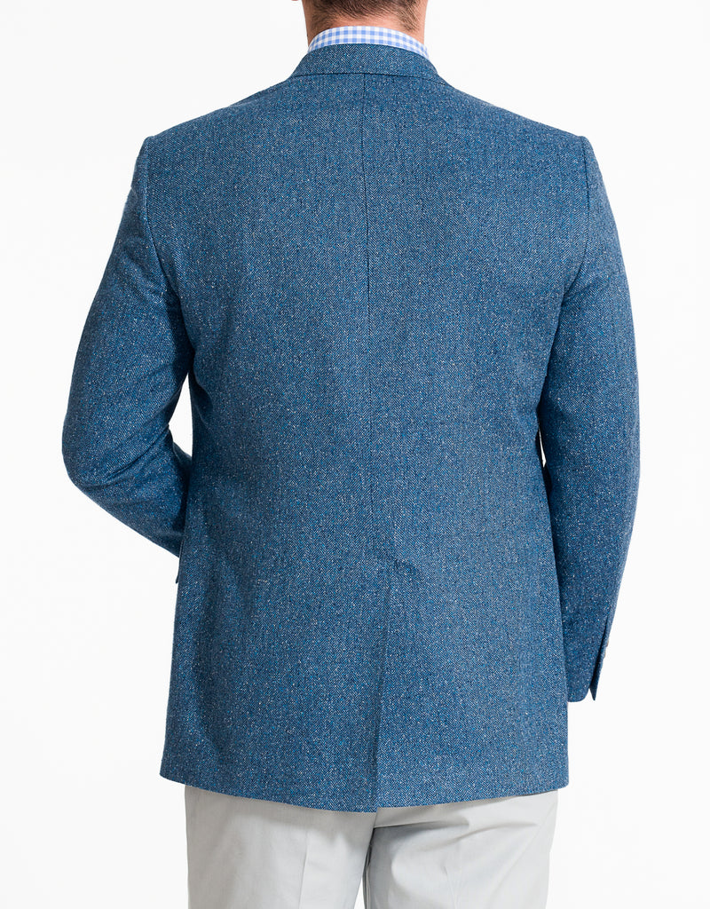 BLUE HERRINGBONE DONEGAL SPORT COAT