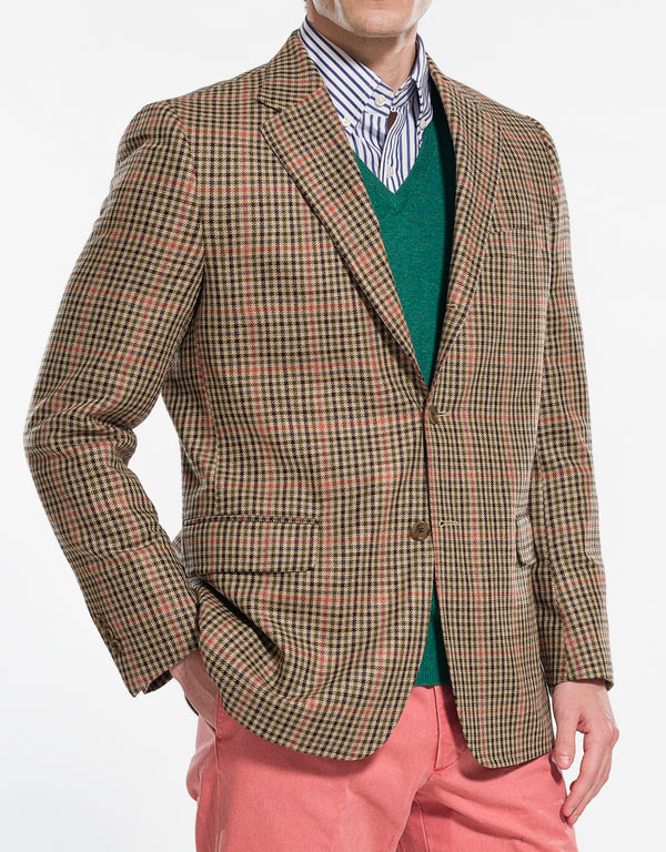 MULTI CHECK SPORT COAT - CLASSIC FIT