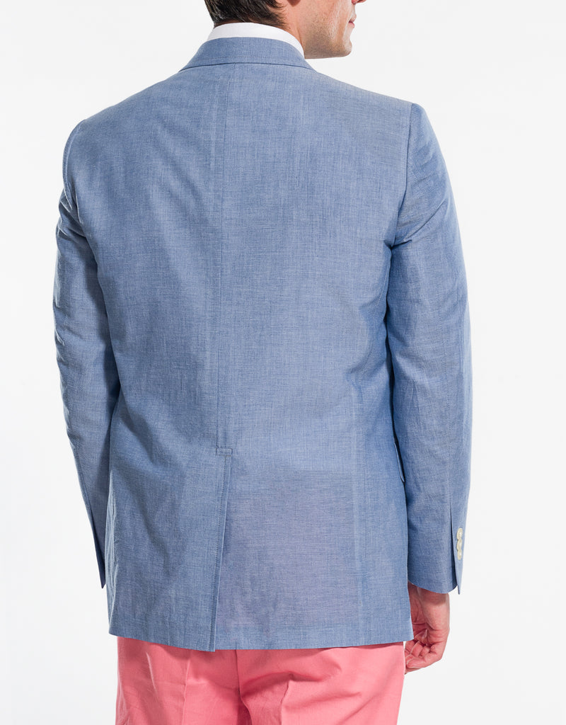 BLUE CHAMBRAY SPORT COAT - CLASSIC FIT