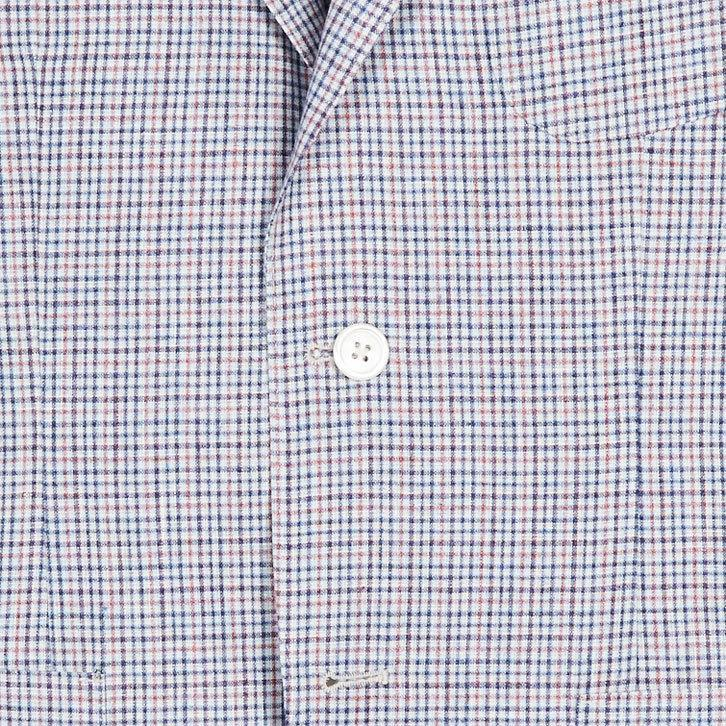 UNCONSTRUCTED MODERN FIT JACKET-RED/BLUE/WHITE PLAID