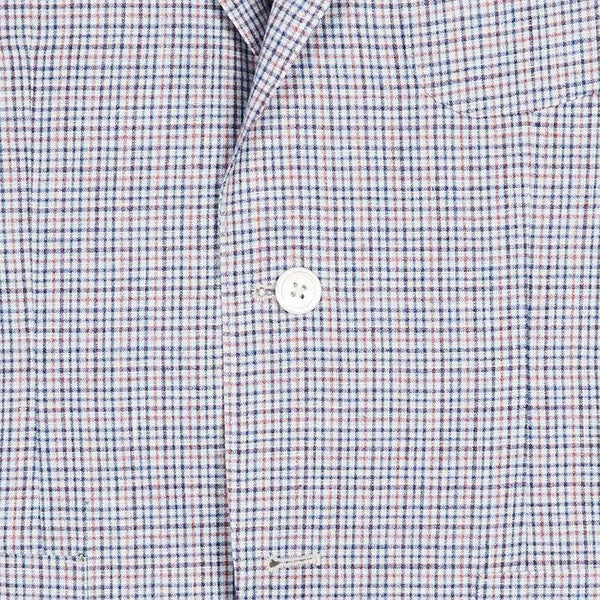 UNCONSTRUCTED MODERN FIT SPORT COAT - RED/BLUE/WHITE PLAID