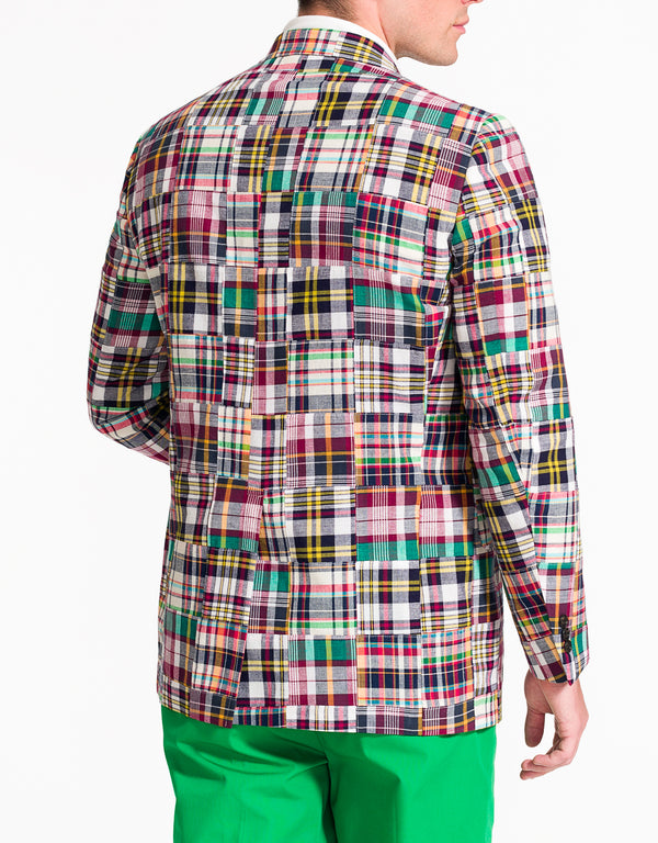 PATCHWORK COTTON MADRAS SPORT COAT - CLASSIC FIT