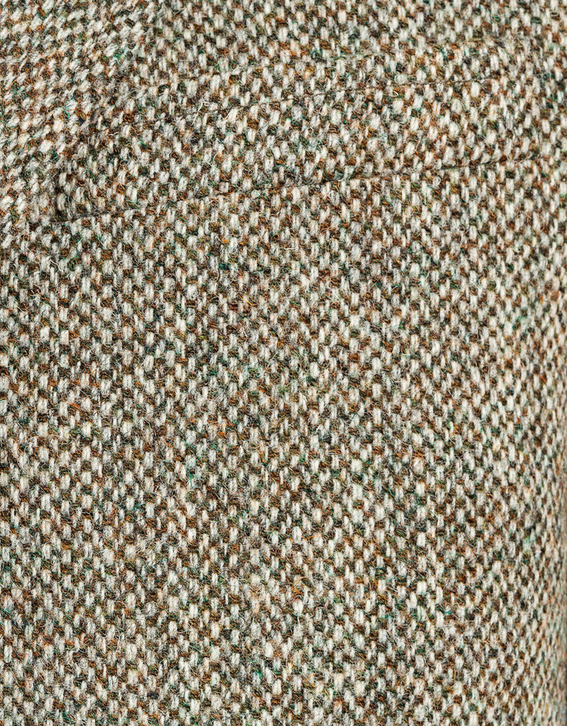 HARRIS TWEED TAN OLIVE BARLEY SPORT COAT - CLASSIC FIT