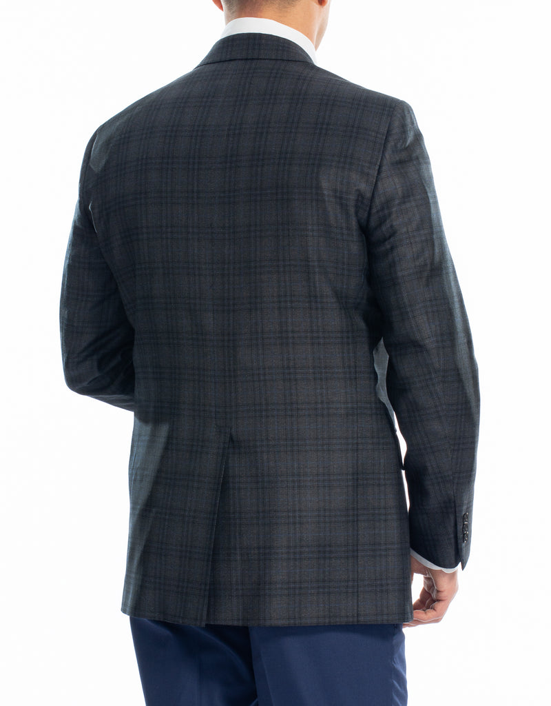 CHARCOAL PLAID SPORT COAT