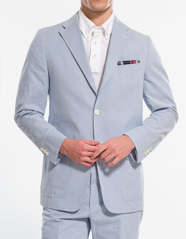 BLUE WHITE PINCORD SPORT COAT