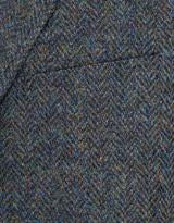 Harris Tweed Blue Mélange Herringbone Sport Coat Classic Fit