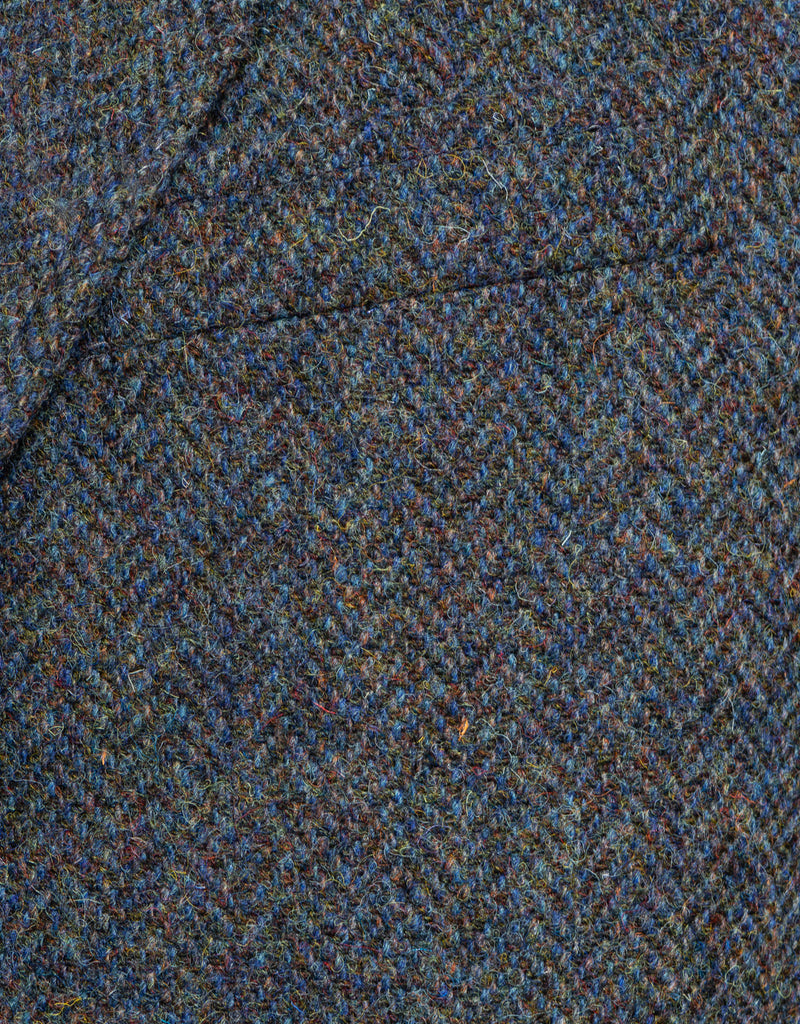 HARRIS TWEED BLUE MELANGE HERRINGBONE SPORTCOAT