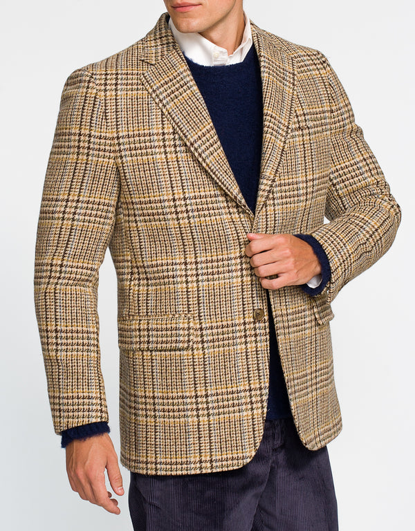 HARRIS TAN MULTI PLAID SPORT COAT - CLASSIC FIT