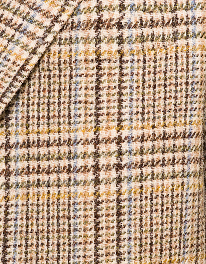 HARRIS TWEED TAN MULTI PLAID SPORT COAT - CLASSIC FIT