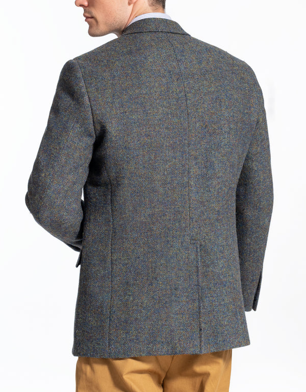 HARRISTWEED OLIVE BLUE MARL SPORT COAT - CLASSIC FIT