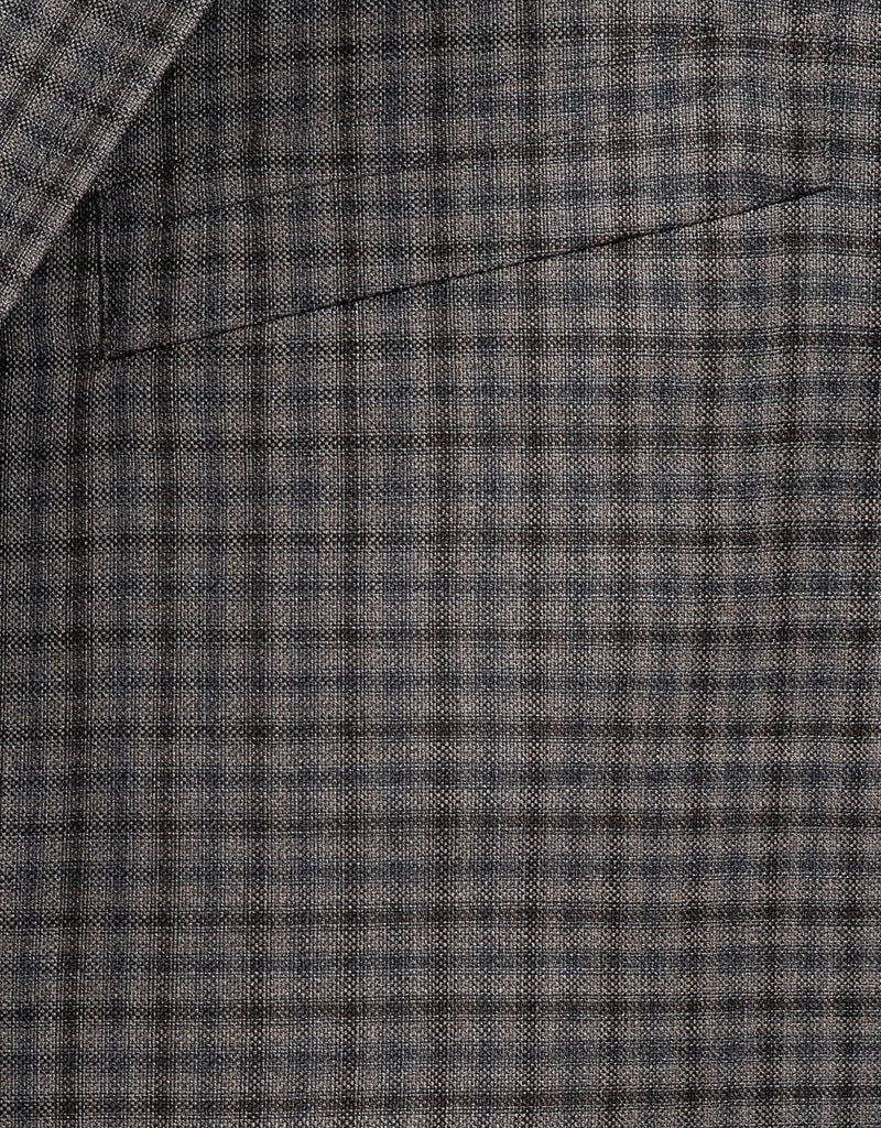 GREY CHECK SPORT COAT - CLASSIC FIT