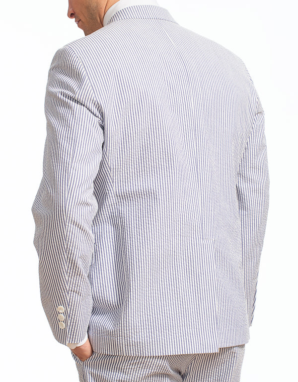 BLUE WHITE COTTON SEERSUCKER SPORT COAT