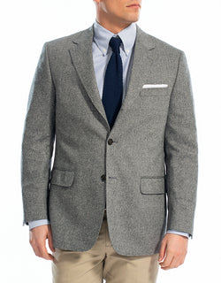 BLACK WHITE HERRINGBONE SPORT COAT