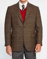 Magee Brown Olive Check Pane