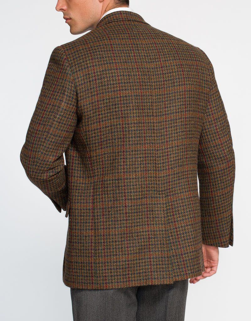 MAGEE BROWN OLIVE CHECK PANE SPORT COAT - CLASSIC FIT