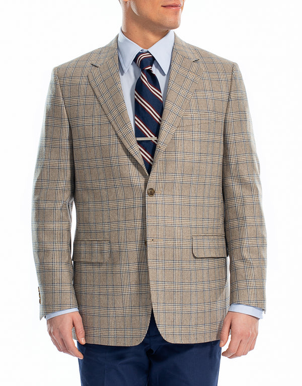 TAN PLAID SPORT COAT