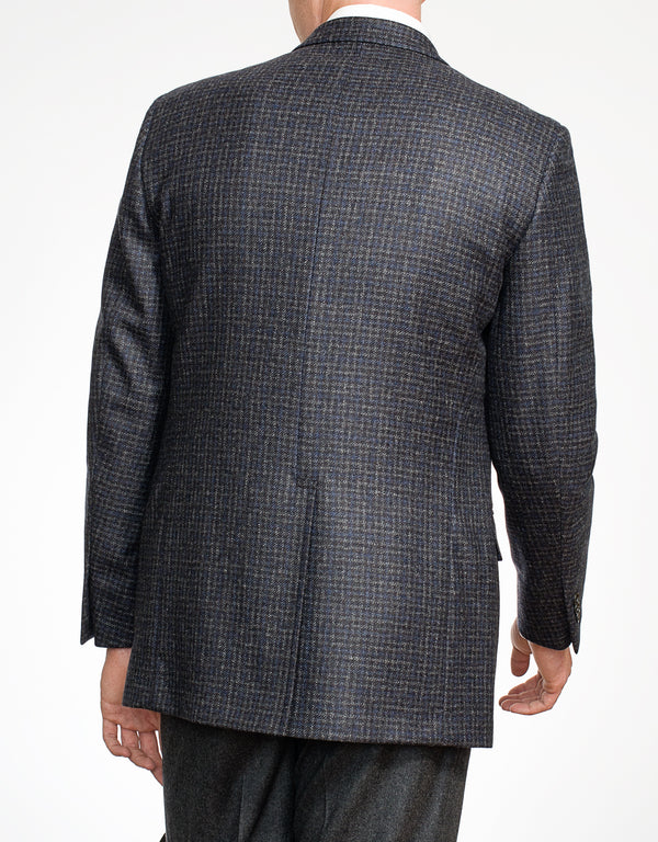 NAVY GREY CHECK SPORT COAT - CLASSIC FIT