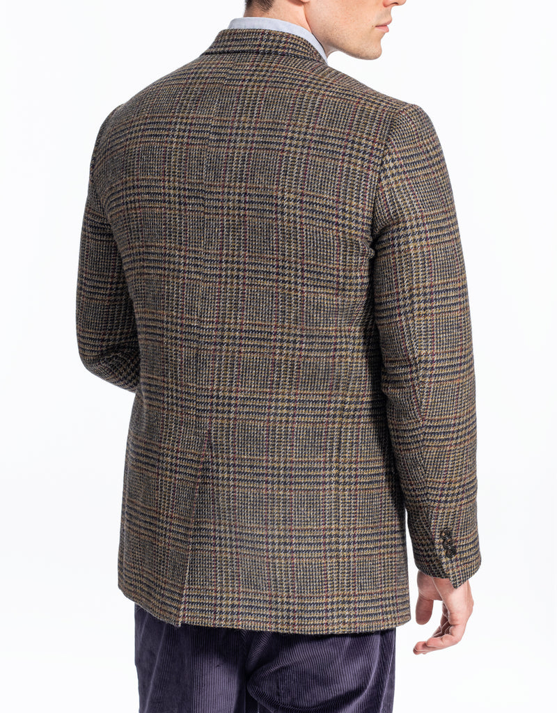 MAGEE BROWN PLAID WITH DECO SPORT COAT - CLASSIC FIT