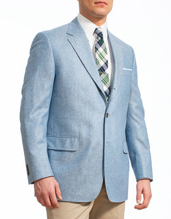 BLUE SILK SOLID SPORT COAT