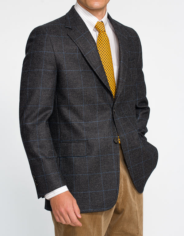 LOVAT CHARCOAL WITH BLUE PANE SPORT COAT - CLASSIC FIT