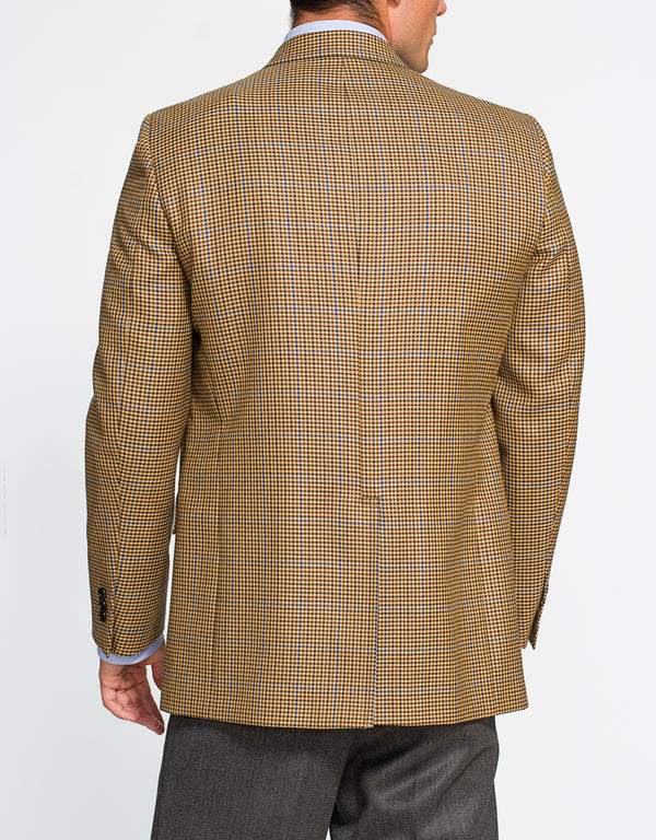 GOLD MULTI CHECK SPORT COAT - CLASSIC FIT