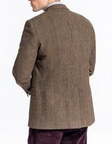 Olive Tic Windowpane Sport Coat Classic Fit