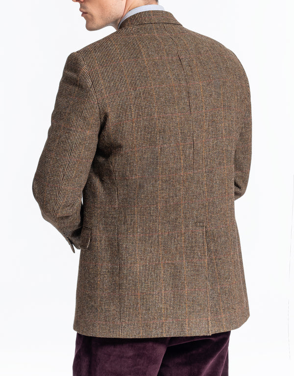 OLIVE TIC WINDOWPANE SPORT COAT - CLASSIC FIT