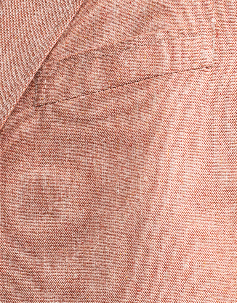 RED SILK SOLID SPORT COAT