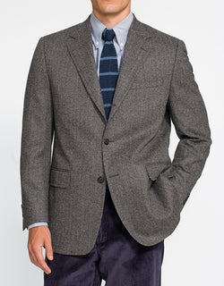 GREY HERRINGBONE SPORT COAT - CLASSIC FIT