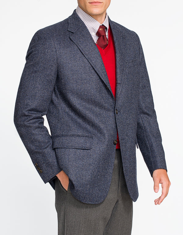 BLUE HERRINGBONE SPORT COAT - CLASSIC FIT