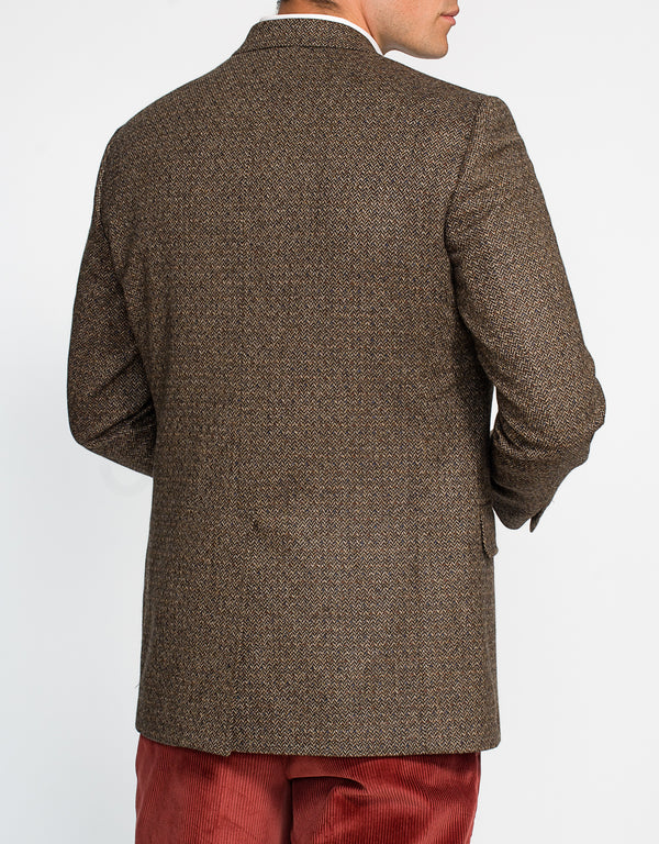 BROWN HERRINGBONE DONEGAL SPORT COAT - CLASSIC FIT