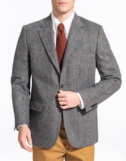 BLACK WHITE BARLEY PANE SPORT COAT - CLASSIC FIT