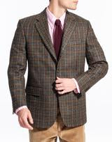 Olive Multicheck Sport Coat Classic Fit