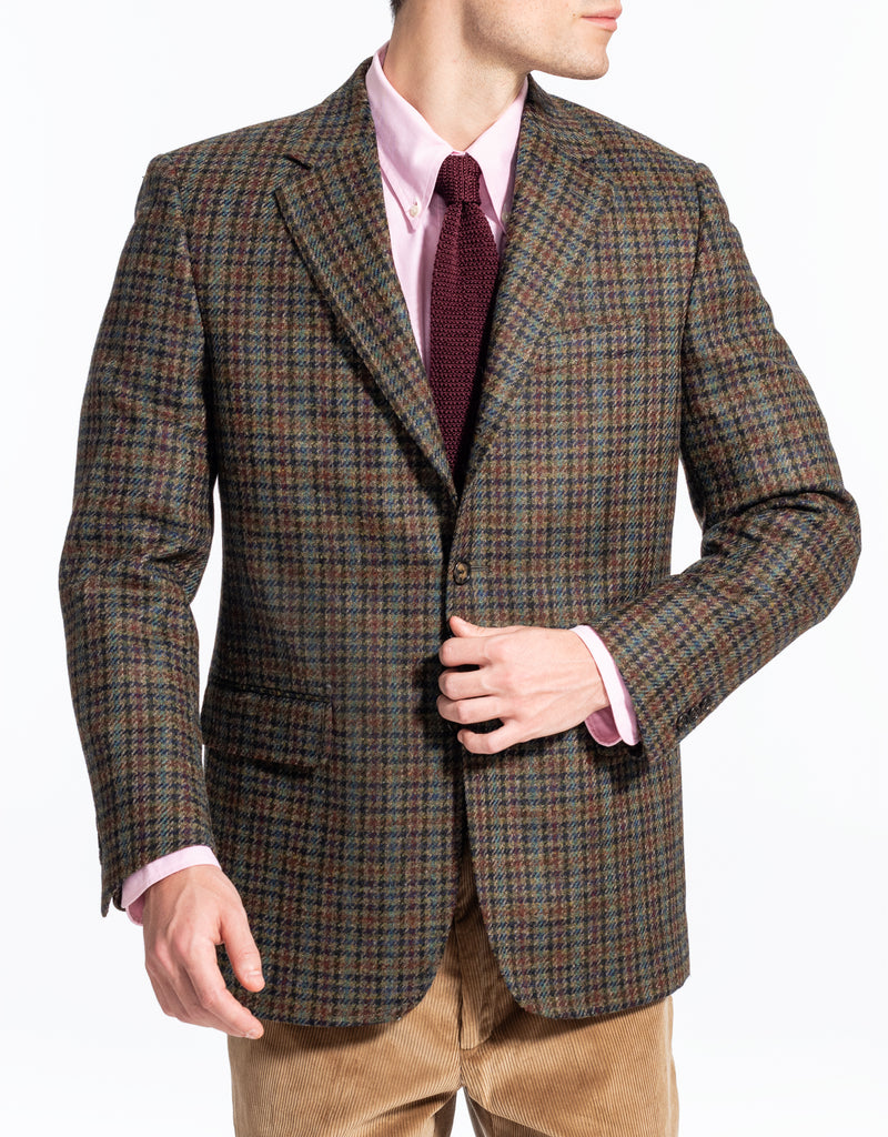 OLIVE MULTICHECK SPORTCOAT
