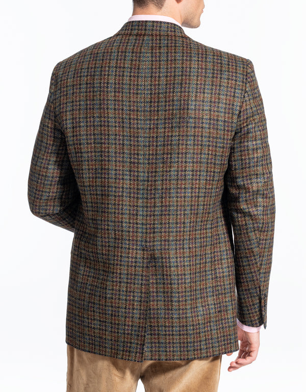 OLIVE MULTICHECK SPORT COAT - CLASSIC FIT