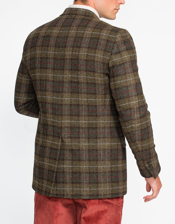 OLIVE TARTAN PLAID SPORT COAT - CLASSIC FIT