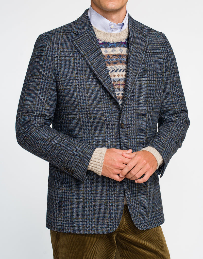 BLUE PLAID SPORT COAT - CLASSIC FIT